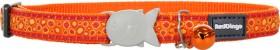 Red-Dingo-Cat-Collar-Bedrock-Orange on sale