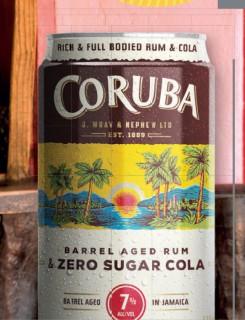 Coruba-Barrel-Aged-Rum-Zero-Sugar-Cola-Can on sale