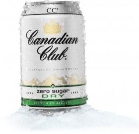 Canadian-Club-Zero-Sugar-Dry-330ml-Can on sale