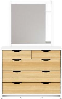 Breeze-5-Drawer-Dresser-with-Mirror on sale