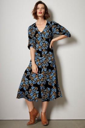 Grace-Hill-Shirred-Detail-Midi-Dress on sale