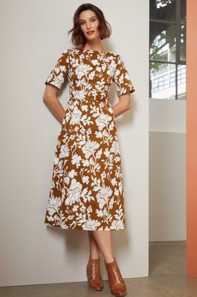 Grace-Hill-Belted-Midi-Dress on sale