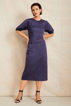 Grace-Hill-Shired-Detail-Panelled-Dress on sale