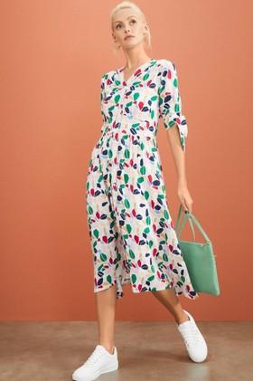 Emerge-Tie-Sleeve-Midi-Dress on sale