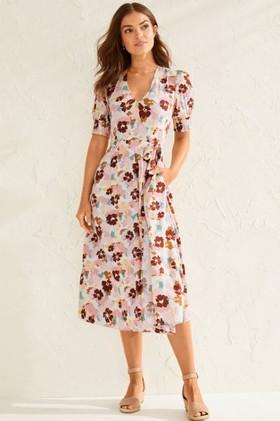 Capture-Mock-Wrap-Midi-Dress on sale