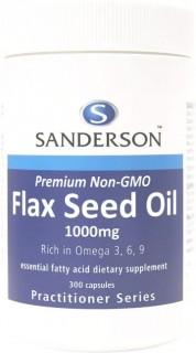 Sanderson-Flax-Seed-Oil-1000mg-300-Capsules on sale