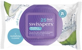 Swisspers-Micellar-and-Coconut-Water-Facial-Wipes-25-Pack on sale