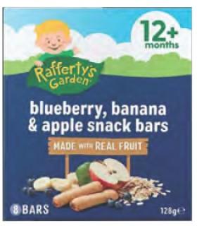 Raffertys-Garden-Blueberry-Banana-Apple-Snack-Bars-12-Months-128g-8-Pack on sale