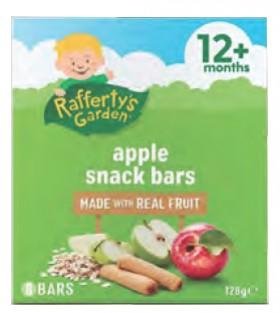 Raffertys-Garden-Apple-Snack-Bars-12-Months-128g-8-Pack on sale