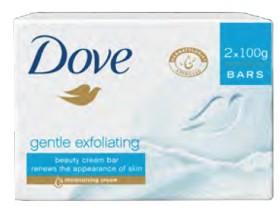 Dove-Gentle-Exfoliating-2x-Bars-10g on sale