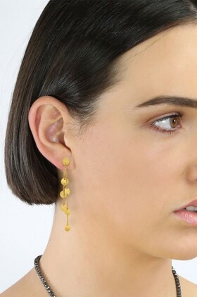 Fairfax-and-Roberts-Boho-Multi-Charm-Triple-Chain-Earrings on sale