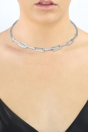Fairfax-and-Roberts-Mixed-Rectangular-Link-Chunky-Necklace on sale