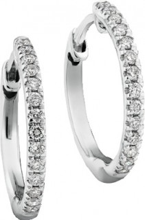 NEW-Pave-Hoop-Earrings-with-015-Carat-TW-Diamonds-in-10ct-White-Gold on sale