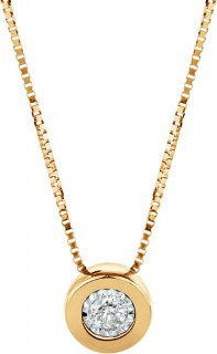 Pendant-with-a-Diamond-in-10ct-Yellow-Gold on sale