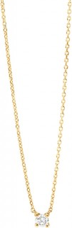 NEW-Mini-Solitaire-Necklace-with-Diamonds-in-10ct-Yellow-Gold on sale