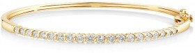 NEW-Oval-Bangle-with-1-Carat-of-TW-Diamonds-in-10ct-Yellow-Gold on sale