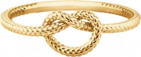 NEW-Overhand-Rope-Knot-Ring-in-10ct-Yellow-Gold on sale