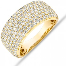 NEW-Pave-Ring-with-150-Carat-TW-Diamond-in-10ct-Yellow-Gold on sale