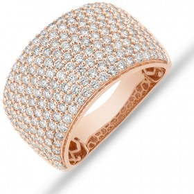 NEW-Pave-Ring-with-2-Carat-TW-Diamond-in-14ct-Rose-Gold on sale
