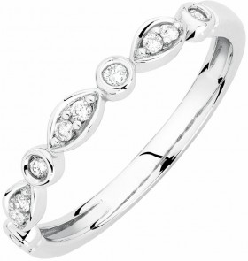 Wedding-Band-with-Diamonds-in-10ct-White-Gold on sale