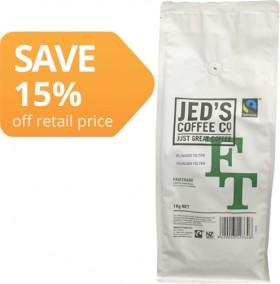 Jeds-Fairtrade-Fresh-Coffee-1kg on sale