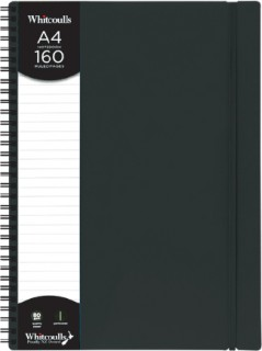 Whitcoulls-A4-Notebook-Black on sale