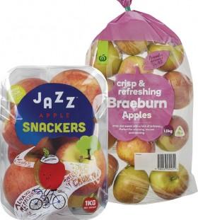 Pre-packed-Jazz-Apples-1kg-or-Braeburn-Apples-15kg on sale