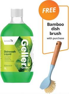 Geller-Dishwashing-Liquid-1L-FREE-BAMBOO-DISH-BRUSH-WITH-PURCHASE on sale