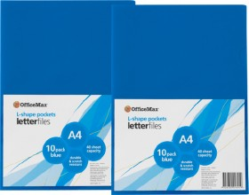 OfficeMax-A4-L-Shaped-Pockets on sale