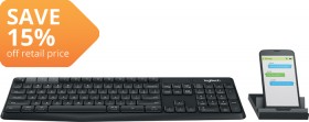 Logitech-K375S-Multi-Device-Wireless-Keyboard-and-Stand-Set on sale