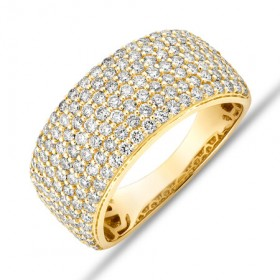 Pave-Ring-with-150-Carat-TW-Diamond-in-10ct-Yellow-Gold on sale