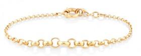 NEW-19cm-75-Graduated-Belcher-Bracelet-in-10ct-Yellow-Gold on sale