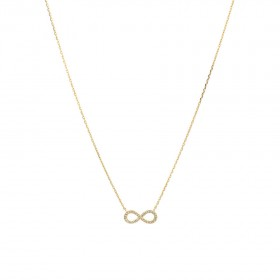 NEW-Infinity-Necklace-with-Diamonds-in-10ct-Yellow-Gold on sale