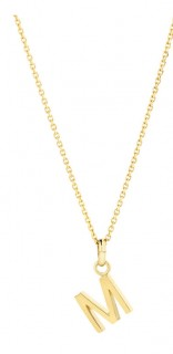 NEW-Initial-Pendant-with-Chain-in-10ct-Yellow-Gold on sale