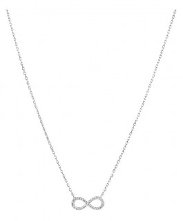 NEW-Infinity-Necklace-with-Diamonds-in-Sterling-Silver on sale