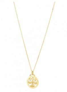 NEW-Libra-Zodiac-Pendant-in-10ct-Yellow-Gold on sale