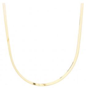 Adjustable-43-48cm-16-18-Herringbone-Snake-Chain-In-10ct-Yellow-Gold on sale