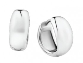 Polished-Huggies-in-Sterling-Silver on sale