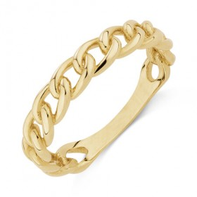 Link-Ring-in-10ct-Yellow-Gold on sale