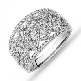 NEW-Diamond-Cluster-Ring-with-100-Carat-TW-of-Diamonds-in-10ct-White-Gold on sale