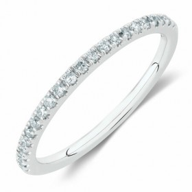 NEW-Wedding-Band-with-15-Carat-TW-of-Diamonds-in-14ct-White-Gold on sale
