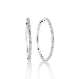 Pave-Hoop-Earrings-with-060-Carat-TW-Diamonds-in-10ct-White-Gold on sale