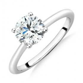 Laboratory-Created-125-Carat-Diamond-Ring-in-14ct-White-Gold on sale