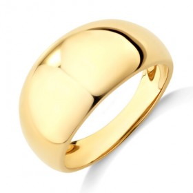 NEW-Wide-Polished-Dome-Ring-in-10ct-Yellow-Gold on sale