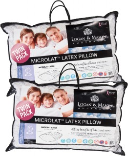 Logan-Mason-Microlat-Quilted-Latex-2-Pack-Pillow on sale