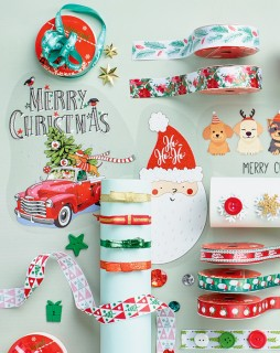 Christmas-Ribbons-Iron-on-Transfers on sale