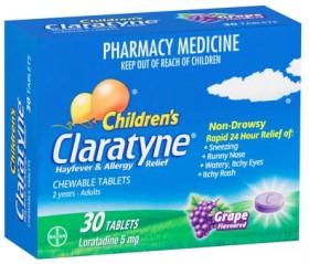 Claratyne-Childrens-Hayfever-Allergy-Relief-30-Tablets on sale
