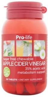 Pro-Life-Apple-Cider-Vinegar-50-Chewable-Tablets on sale