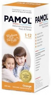 Pamol-All-Ages-Orange-Colour-Free-200mL on sale