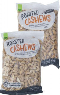 Countdown-Roasted-Cashews-Salted-or-Unsalted-500g on sale